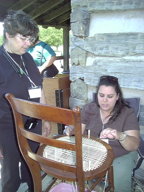 Chair Caning Demonstration