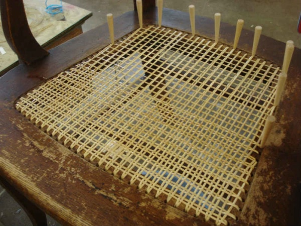 large cane seat over 100 holes