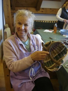 1st time antler basket weaver 11-2013