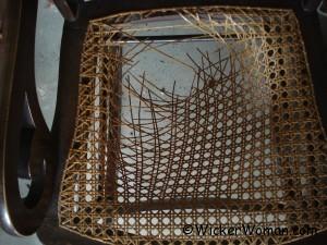 cane seat broken at rail