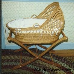 First Wicker Bassinet by Cathryn Peters 1988