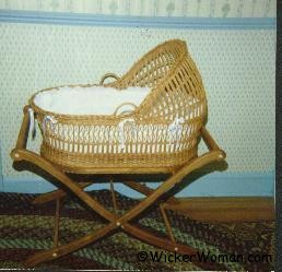 2nd Wicker Baby Bassinet by Cathryn Peters 1988