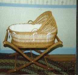2nd Wicker Baby Bassinet by Cathryn Peters 1988