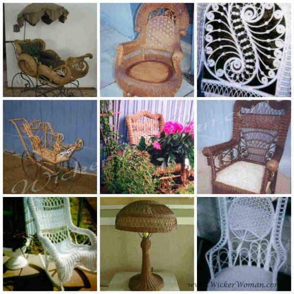 Antique Wicker Furniture collage