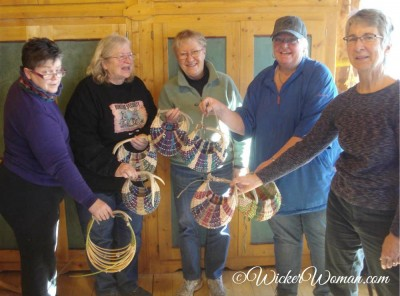 North House Folk School antler basket class students