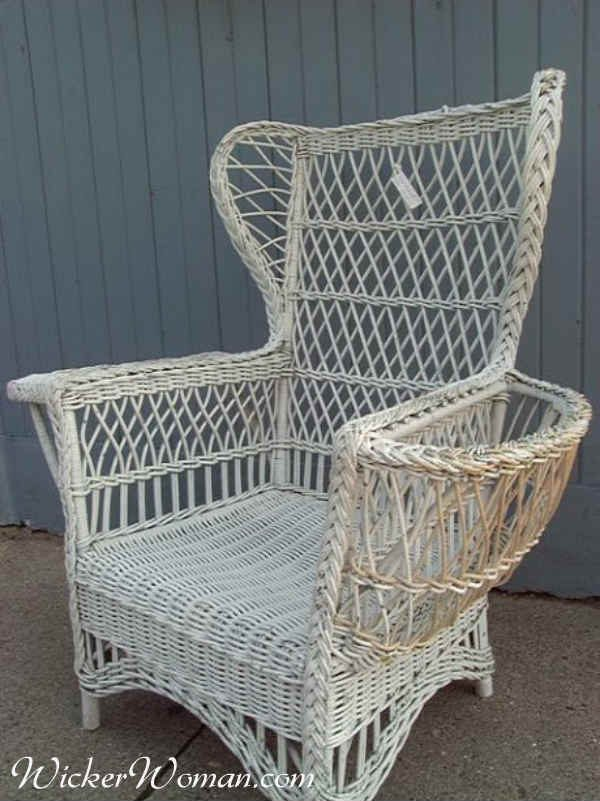 1910s wicker Bar Harbor chair