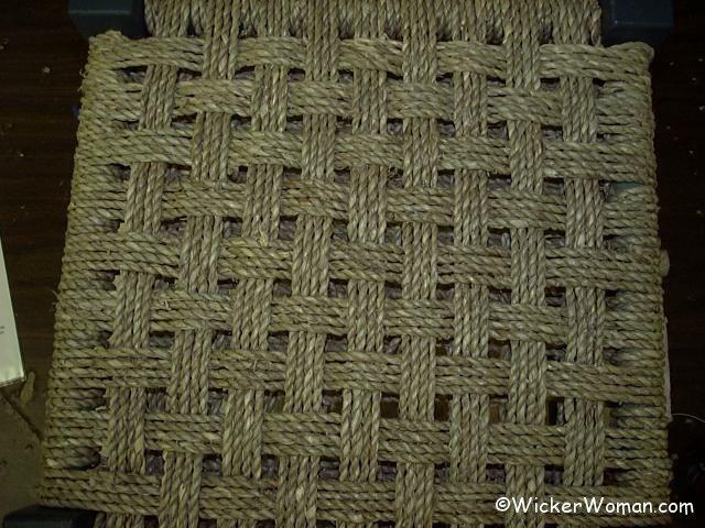 checkerboard seagrass stool