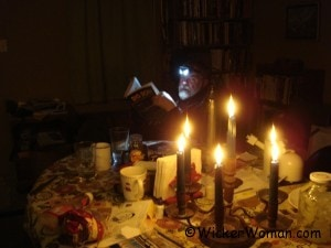 reading by headlamp