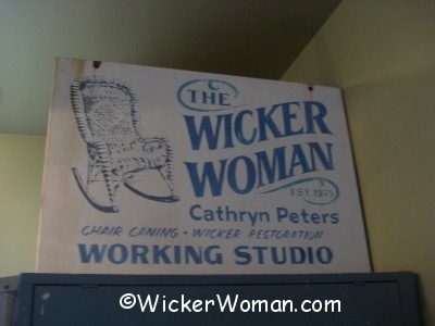 Mike Meyer, Mazeppa, MN sign painter made The Wicker Woman sign