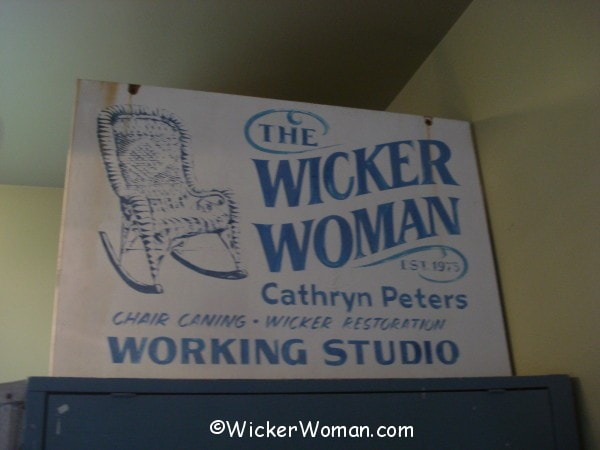 Mike Meyer made Wicker Woman sign
