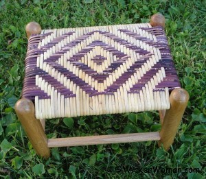 diamond-wide-binding-cane-stool
