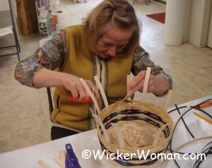 Alberta cutting Easter basket spokes