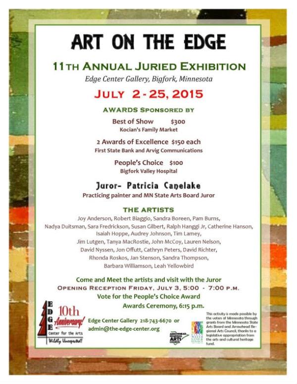 Art on the Edge Exhibit Bigfork, MN