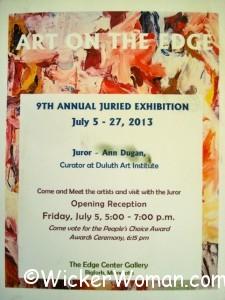 9th Art on the Edge Exhibit 7-2013