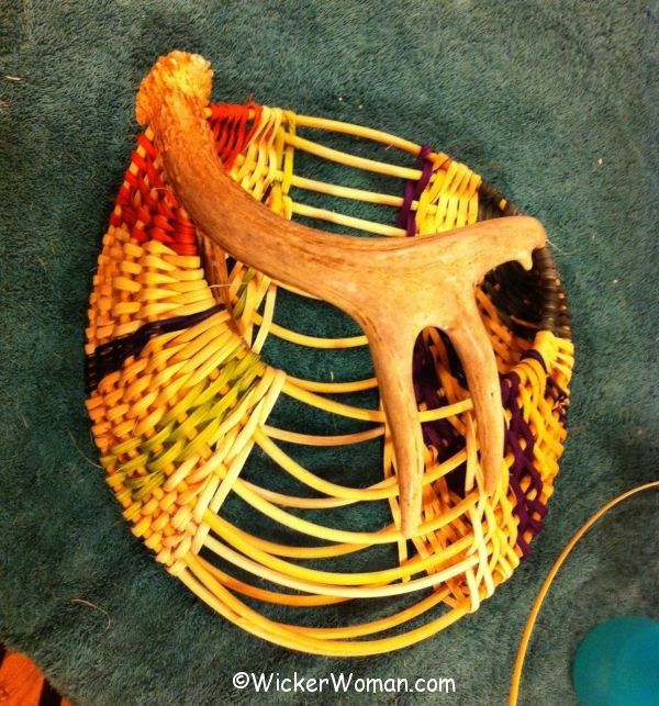 Karla antler basket progress