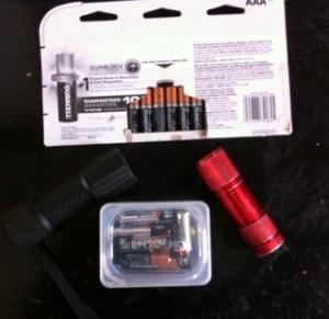 LED flashlight batteries