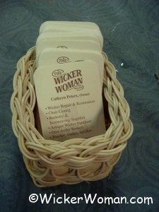 Lacy Business Card Basket-Natural