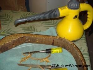 cane spline remover steamer