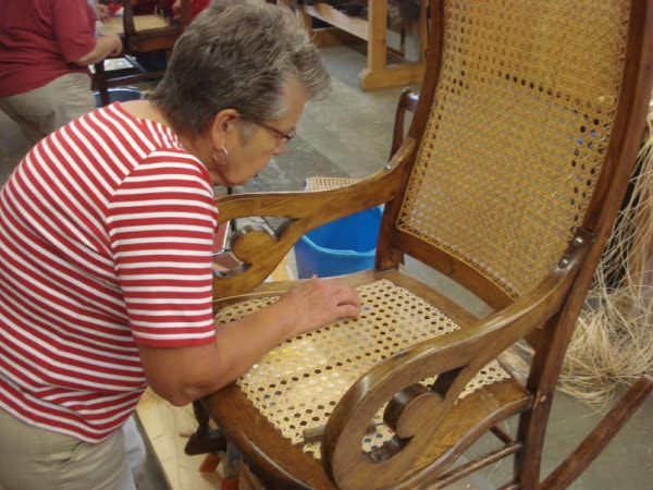 caning Lincoln rocker seat