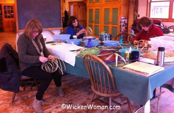 weaving rib style antler baskets