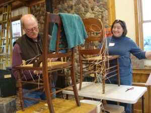 husband-wife-chair caning team
