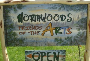 Northwoods Friends of the Arts Gallery sign