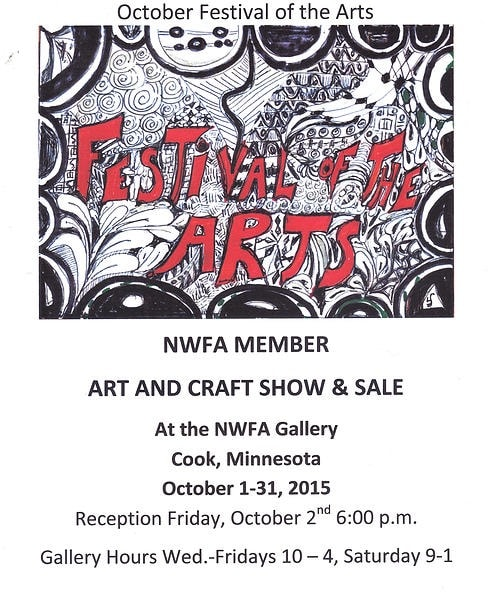 NWFA October Fall Festival of the Arts  2015