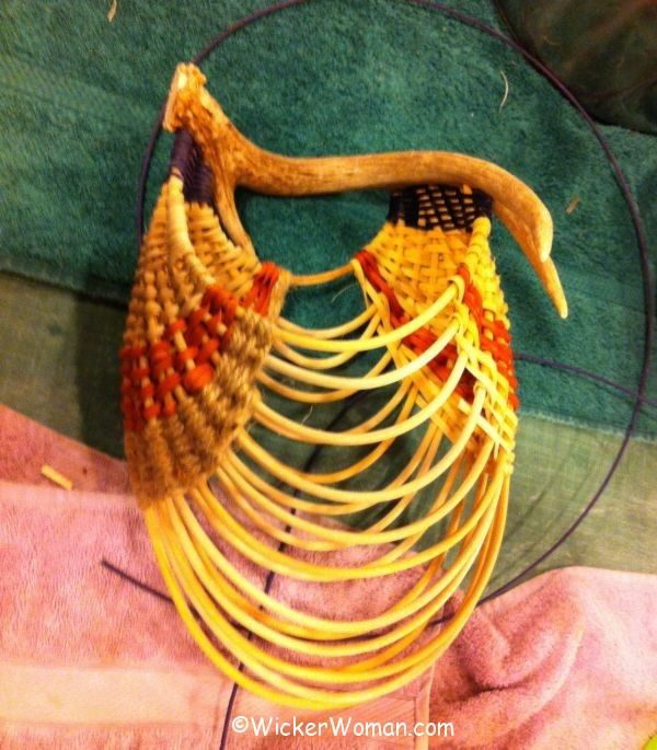 Nicole antler basket progress
