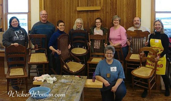 Strand chair caning at North House Folk School