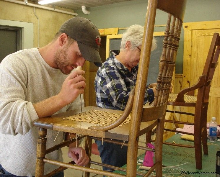 Cathryn's chair caning class