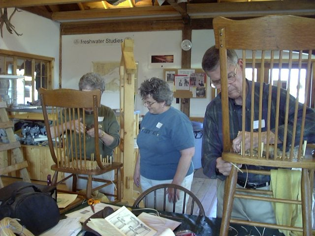 North House Folk School Caning Class