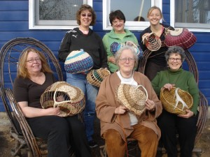 2011 Antler Basket Weaving Class North House