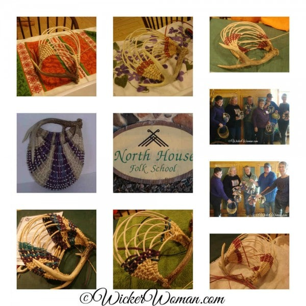 North House Folk School Antler Basket Class