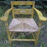 Weaving a bulrush seat Norwegian chair