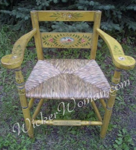 Norwegian chair bulrush seat