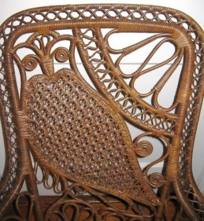 Owl Motif Back Victorian Wicker