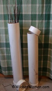 PVC cane webbing and willow soaking tubes