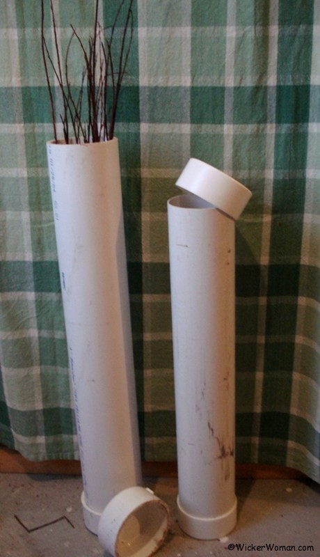 PVC Pipe Soaking Willow and Cane Webbing--Tuesday Tips