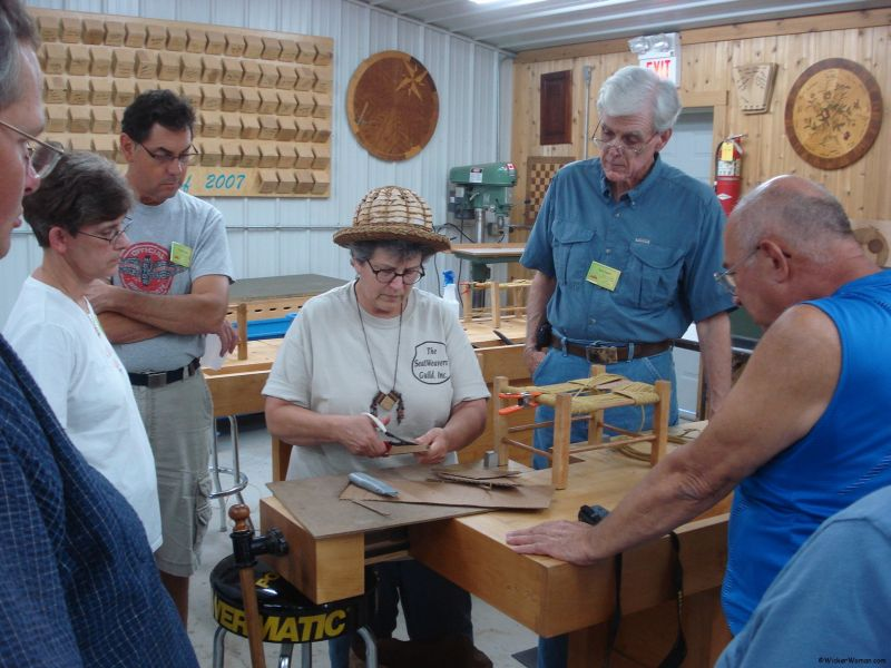 Chair Caning Class at Marc Adams School of Woodworking