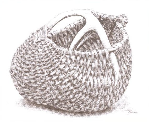 First Attempt, Antler Basket by Cathryn Peters