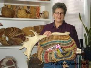 Touch of Arizona Antler Basket by Peters