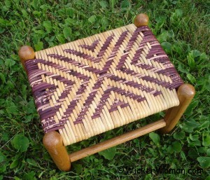 diagonal cross cane footstool