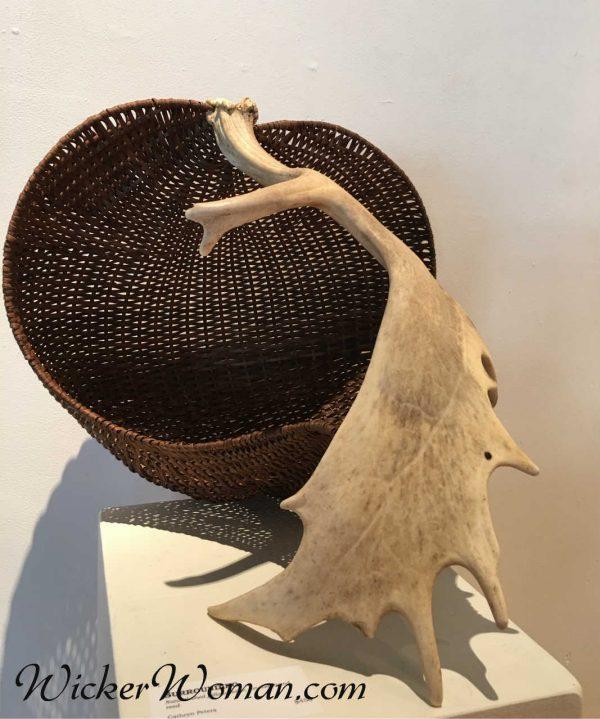 Surrounding-Antler Basket Sculpture by Cathryn Peters