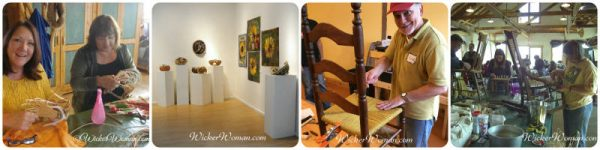 Cathryn's weaving classes and exhibits