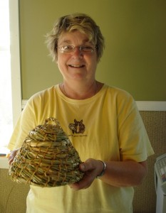 Rhonda's Completed Bee Skep