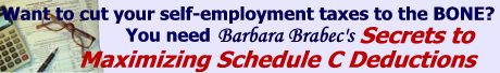 Barbara Brabec's Tax Savings Schedule C Book
