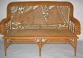 Schooner motif wicker settee