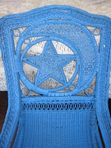 Star motif Victorian wicker