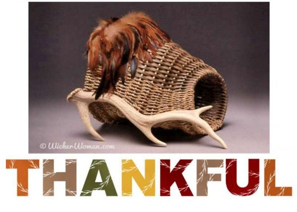 Thanksgiving Antler Basket Day Wishes