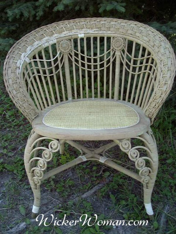 Victorian wicker swag photographer's chair